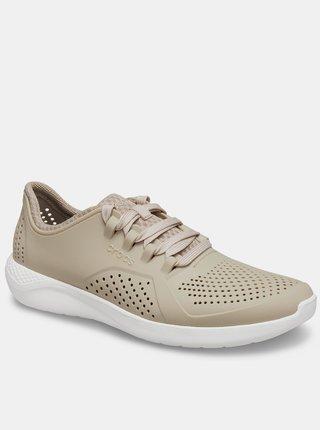 Crocs béžové tenisky LiteRide Pacer Cobblestone/White