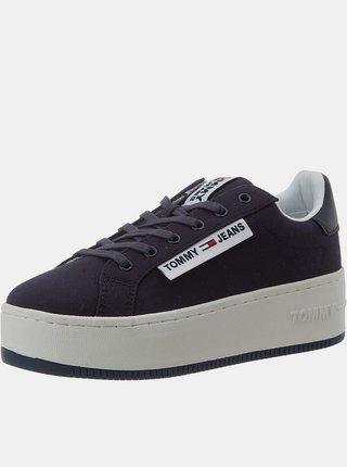 Tommy Hilfiger tmavomodré tenisky na platforme Oversized Label Icon Sneaker