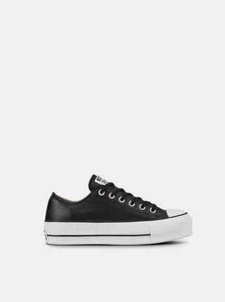 Converse čierne kožené tenisky Chuck Taylor All Star Lift