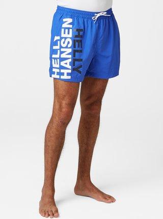 Modré pánske plavky s potlačou HELLY HANSEN
