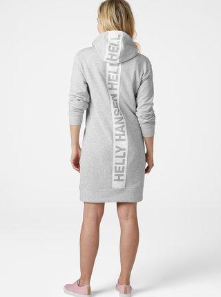 Světle šedé mikinové šaty HELLY HANSEN Active