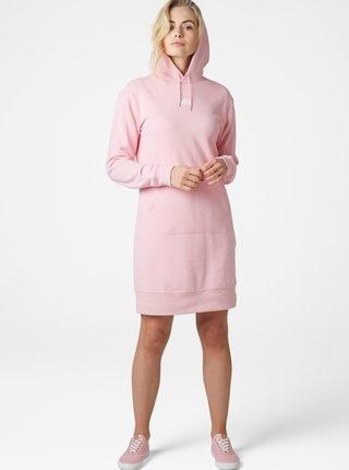 Růžové mikinové šaty HELLY HANSEN Active