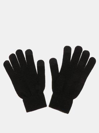 Černé dotykové rukavicePieces New Buddy