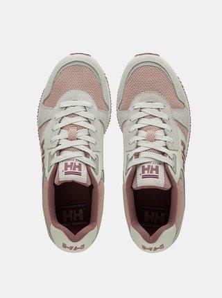 Růžovo-krémové dámské semišové tenisky HELLY HANSEN