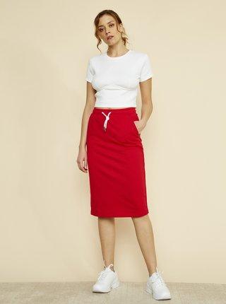 Červená basic sukně ZOOT Baseline Vendelina