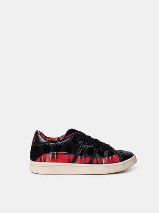 Desigual černo-červené tenisky Shoes Cosmic Tartan