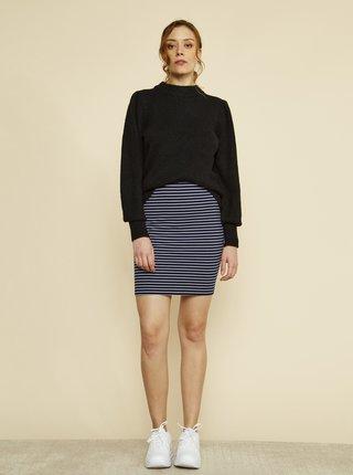 Tmavomodrá pruhovaná púzdrová basic sukňa ZOOT Baseline Adriana