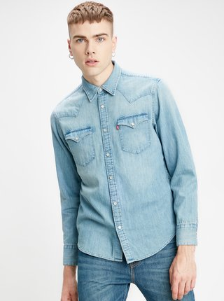 Svetlomodrá pánska rifľová košeľa Levi's® Barstow Western