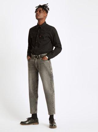 Čierna pánska rifľová košeľa Levi's®