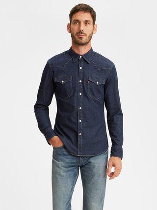 Tmavomodrá pánska rifľová košeľa Levi's® Barstow Western