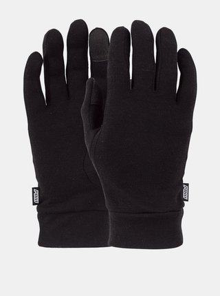 POW Merino Liner black zimní prstové rukavice - černá