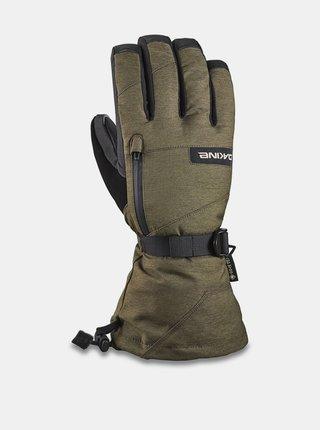 Dakine TITAN dark olive pánské zimní prstové rukavice - zelená