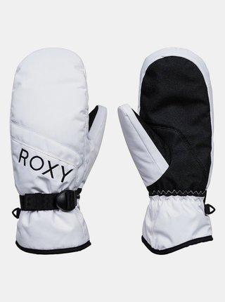 Roxy JETTY SOLID MITT BRIGHT WHITE zimní palcové rukavice - bílá