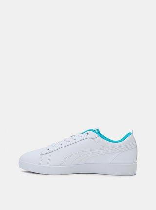 Biele dámske kožené tenisky Puma