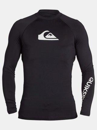 Čierne športové tričko s potlačou Quiksilver