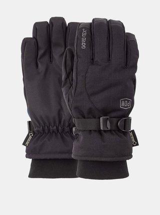 POW Trench GTX black pánské zimní prstové rukavice - černá