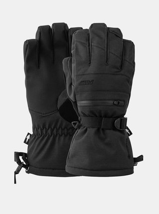 POW Wayback GTX Long Glo black pánské zimní prstové rukavice - černá
