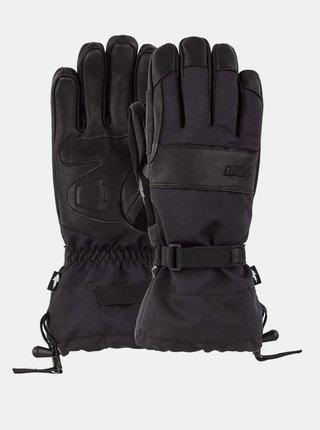 POW August Gauntlet black pánské zimní prstové rukavice - černá