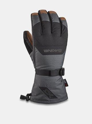 Dakine LEATHER SCOUT CARBON pánské zimní prstové rukavice - šedá