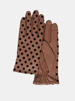 Ichi hnedé rukavice A Fiona