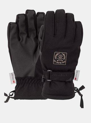 POW XG MID black pánské zimní prstové rukavice - černá