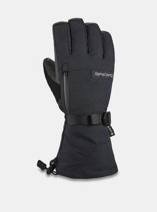 Dakine LEATHER TITAN black pánské zimní prstové rukavice - černá