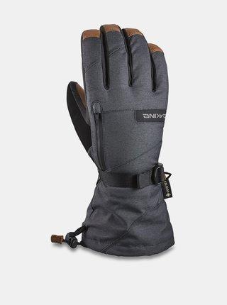 Dakine LEATHER TITAN CARBON pánské zimní prstové rukavice - šedá
