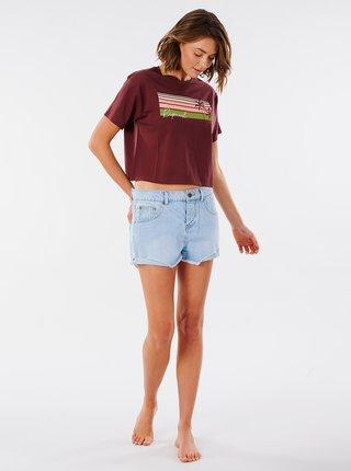 Vínové tričko s potiskem Rip Curl