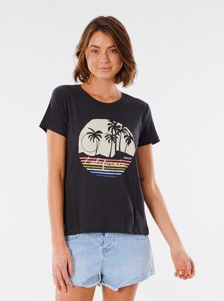 Černé tričko s potiskem Rip Curl
