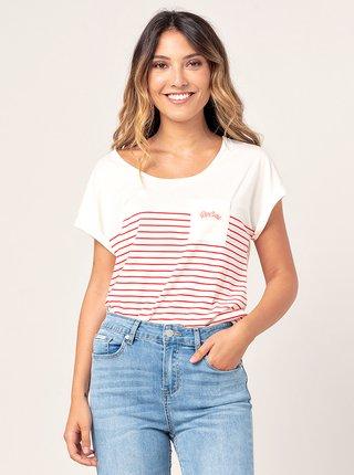 Bílé pruhované tričko Rip Curl