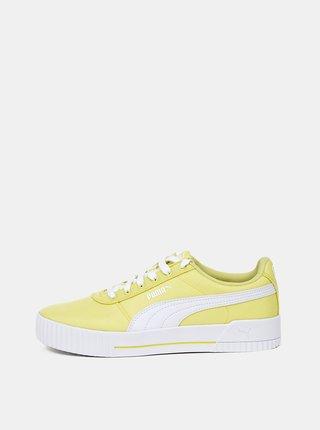 Žluté dámské tenisky Puma Carina CV