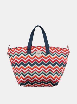 Modro-červená dámská vzorovaná plážová taška BARTS