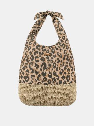 Hnedá dámska vzorovaná plážová taška BARTS
