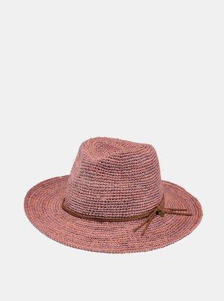 Růžový dámský slaměný klobouk BARTS
