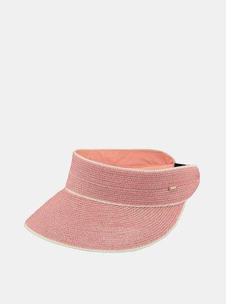 Růžový dámský slaměný kšilt BARTS