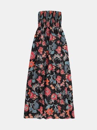 Čierne dámske kvetované maxišaty BARTS