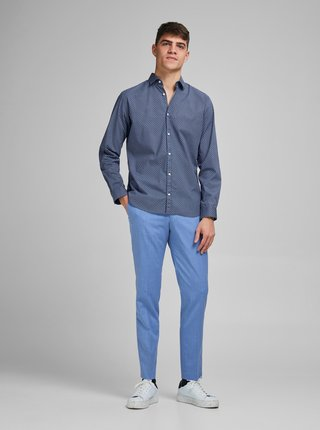 Modrá vzorovaná košile Jack & Jones