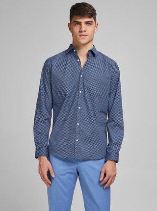 Modrá vzorovaná košeľa Jack & Jones