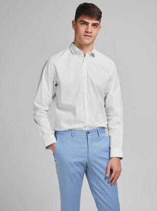Biela vzorovaná košeľa Jack & Jones
