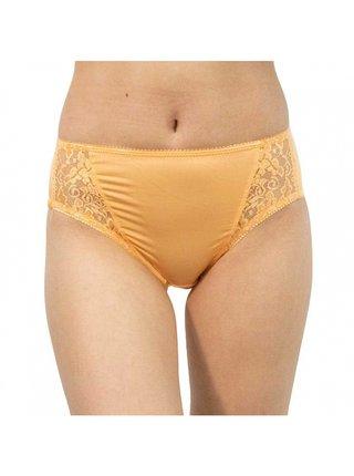 Dámské kalhotky Gina oranžové s krajkou