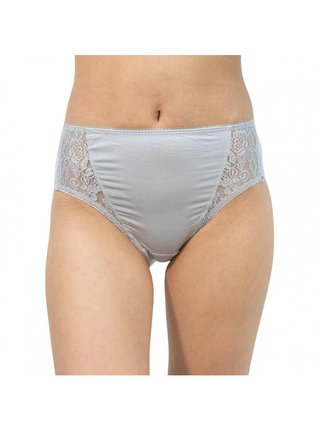 Dámské kalhotky Gina šedé s krajkou