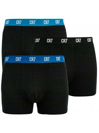 3PACK pánské boxerky CR7 černé