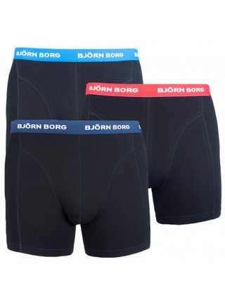 3PACK pánské boxerky Bjorn Borg černé