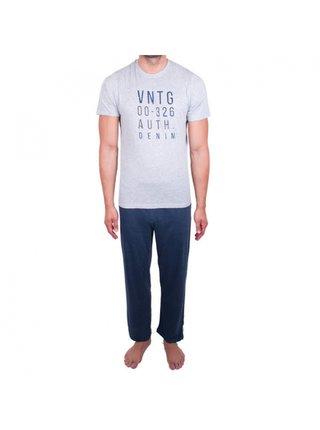Pánské pyžamo Molvy modro šedé