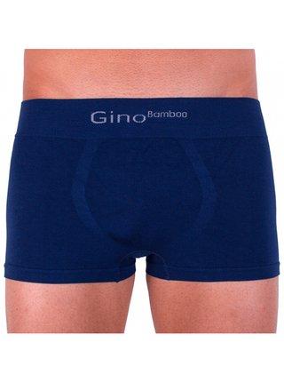 Pánské boxerky Gino bezešvé bambusové modré