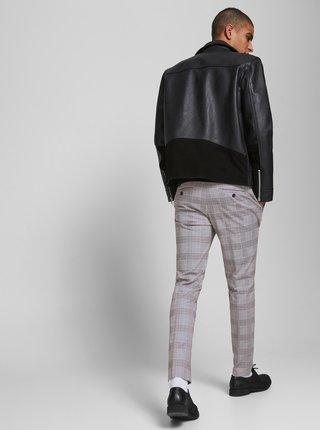 Šedé kockované nohavice Jack & Jones Marco