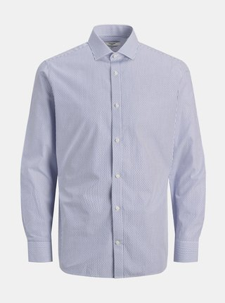 Modro-biela vzorovaná košeľa Jack & Jones Royal