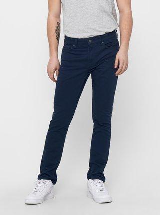 Tmavě modré slim fit kalhoty ONLY & SONS Loom