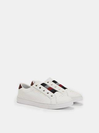 Tommy Hilfiger biele tenisky TH Elastic Slip On White