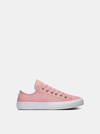 Converse ružové tenisky kožené Chuck Taylor All Star